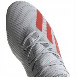 Buty piłkarskie adidas X 19.2 Fg M F35386 szare szary/srebrny 3