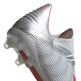 Buty piłkarskie adidas X 19.2 Fg M F35386 szare szary/srebrny 5