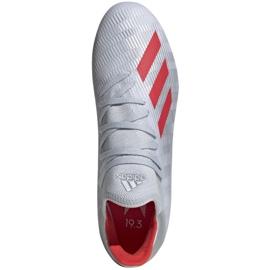 Buty piłkarskie adidas X 19.3 Fg M F35382 srebrny wielokolorowe 3