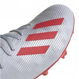 Buty piłkarskie adidas X 19.3 Fg M F35382 srebrny wielokolorowe 4