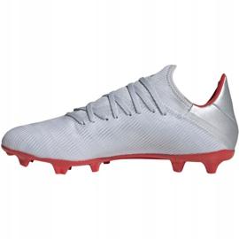 Buty piłkarskie adidas X 19.3 Fg M F35382 srebrny wielokolorowe 5