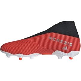 Buty piłkarskie adidas Nemeziz 19.3 Ll Fg M F99997 czerwone czerwone 2