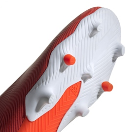 Buty piłkarskie adidas Nemeziz 19.3 Ll Fg M F99997 czerwone czerwone 6