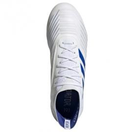Buty piłkarskie adidas Predator 19.1 Sg M D98055 białe białe 2