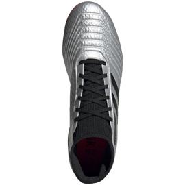 Buty piłkarskie adidas Predator 19.3 Fg M F35595 srebrny czerwone 2