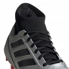 Buty piłkarskie adidas Predator 19.3 Fg M F35595 srebrny czerwone 3