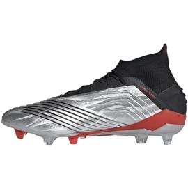 Buty piłkarskie adidas Predator 19.1 Fg M F35607 szare srebrny 1