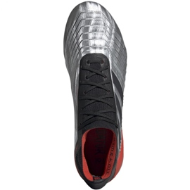 Buty piłkarskie adidas Predator 19.1 Fg M F35607 szare srebrny 2