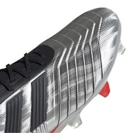 Buty piłkarskie adidas Predator 19.1 Fg M F35607 szare srebrny 3