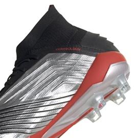 Buty piłkarskie adidas Predator 19.1 Fg M F35607 szare srebrny 4