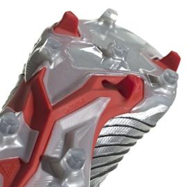 Buty piłkarskie adidas Predator 19.1 Fg M F35607 szare srebrny 5