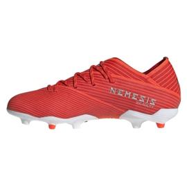 Buty piłkarskie adidas Nemeziz 19.1 Fg Jr F99955 czerwone czerwone 1