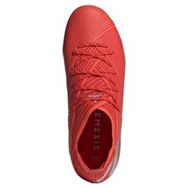 Buty piłkarskie adidas Nemeziz 19.1 Fg Jr F99955 czerwone czerwone 2