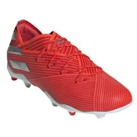 Buty piłkarskie adidas Nemeziz 19.1 Fg Jr F99955 czerwone czerwone 3