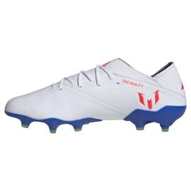 Buty piłkarskie adidas Nemeziz Messi 19.1 Fg M F34402 białe białe 1