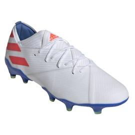 Buty piłkarskie adidas Nemeziz Messi 19.1 Fg M F34402 białe biały 3