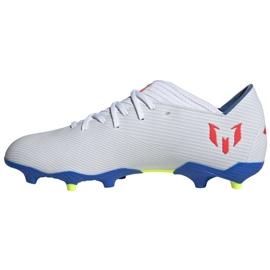 Buty piłkarskie adidas Nemeziz Messi 19.3 Fg M F34400 białe białe 1