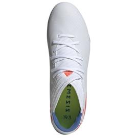 Buty piłkarskie adidas Nemeziz Messi 19.3 Fg M F34400 białe białe 2
