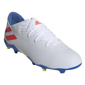 Buty piłkarskie adidas Nemeziz Messi 19.3 Fg M F34400 białe białe 3