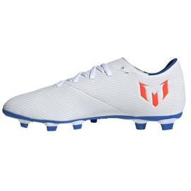 Buty piłkarskie adidas Nemeziz Messi 19.4 Fg M F34401 białe wielokolorowe 1
