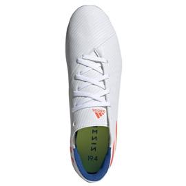 Buty piłkarskie adidas Nemeziz Messi 19.4 Fg M F34401 białe wielokolorowe 2