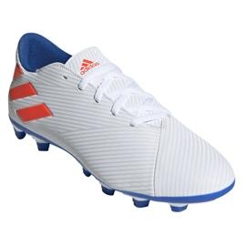 Buty piłkarskie adidas Nemeziz Messi 19.4 Fg M F34401 białe wielokolorowe 3