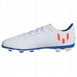 Buty piłkarskie adidas Nemeziz Messi 19.4 FxG Jr F99931 białe wielokolorowe 1