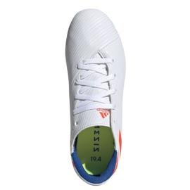 Buty piłkarskie adidas Nemeziz Messi 19.4 FxG Jr F99931 białe wielokolorowe 2
