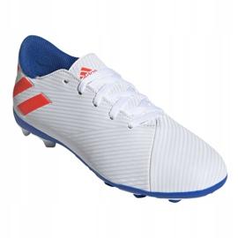 Buty piłkarskie adidas Nemeziz Messi 19.4 FxG Jr F99931 białe wielokolorowe 3