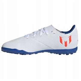 Buty piłkarskie adidas Nemeziz Messi 19.4 Tf Jr F99929 białe wielokolorowe 1