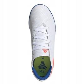 Buty piłkarskie adidas Nemeziz Messi 19.4 Tf Jr F99929 białe czerwony, biały 2