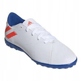 Buty piłkarskie adidas Nemeziz Messi 19.4 Tf Jr F99929 białe wielokolorowe 3