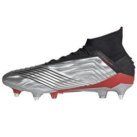 Buty piłkarskie adidas Predator 19.1 Sg M F99986 srebrny czerwony, szary/srebrny 1