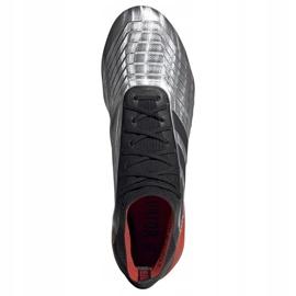 Buty piłkarskie adidas Predator 19.1 Sg M F99986 srebrny czerwony, szary/srebrny 2