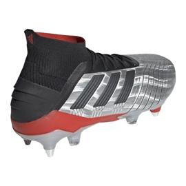 Buty piłkarskie adidas Predator 19.1 Sg M F99986 srebrny czerwony, szary/srebrny 3