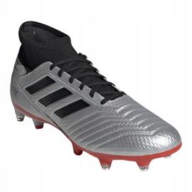 Buty piłkarskie adidas Predator 19.3 Sg M F99992 srebrny wielokolorowe 2