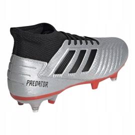 Buty piłkarskie adidas Predator 19.3 Sg M F99992 srebrny wielokolorowe 3
