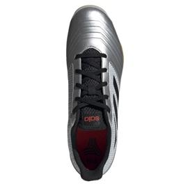 Buty halowe adidas Predator 19.4 In M F35630 szare wielokolorowe 2