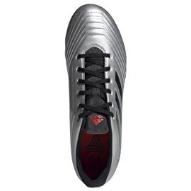 Buty piłkarskie adidas Predator 19.4 Tf M F35634 srebrny czerwony, czarny, szary/srebrny 2