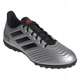 Buty piłkarskie adidas Predator 19.4 Tf M F35634 srebrny czerwony, czarny, szary/srebrny 3