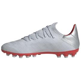 Buty piłkarskie adidas X 19.3 Ag M F35336 srebrny wielokolorowe 1