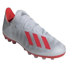 Buty piłkarskie adidas X 19.3 Ag M F35336 srebrny wielokolorowe 3