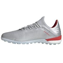 Buty piłkarskie adidas X 19.1 Tf M G25752 czerwony, szary/srebrny srebrny 1