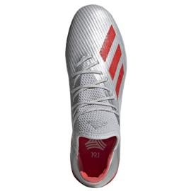 Buty piłkarskie adidas X 19.1 Tf M G25752 czerwony, szary/srebrny srebrny 2