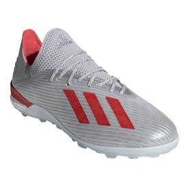 Buty piłkarskie adidas X 19.1 Tf M G25752 czerwony, szary/srebrny srebrny 3