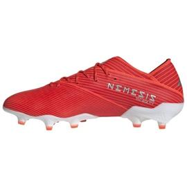 Buty piłkarskie adidas Nemeziz 19.1 Fg M F34408 czerwone czerwone 1