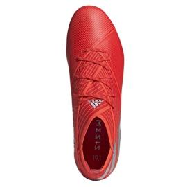Buty piłkarskie adidas Nemeziz 19.1 Fg M F34408 czerwone czerwone 2