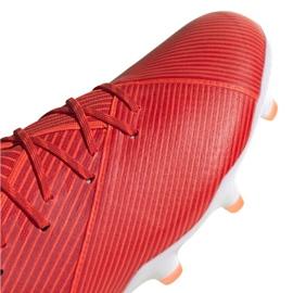 Buty piłkarskie adidas Nemeziz 19.1 Fg M F34408 czerwone czerwone 3