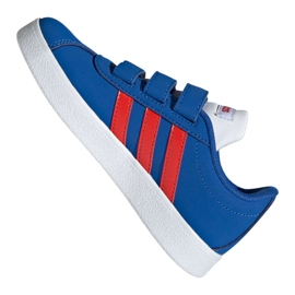 Buty adidas Vl Court 2.0 Cmf C Jr EE6904 niebieskie 1