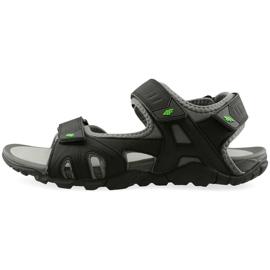 Sandały 4F M H4L19-SAM003 20S czarny czarne 2